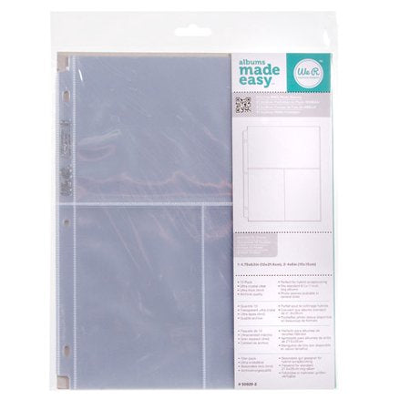 WRMK 8.5x11 Ring Page Protectors 1-4.75x8.5 & 2-6x4 10 Pack
