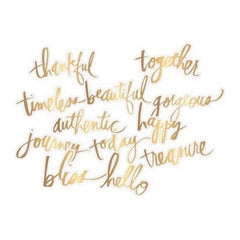 Heidi Swapp Gold Magnolia Jane Acetate Words