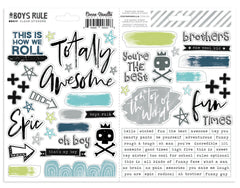 CV-BR 014 Boys Rule Clear Stickers