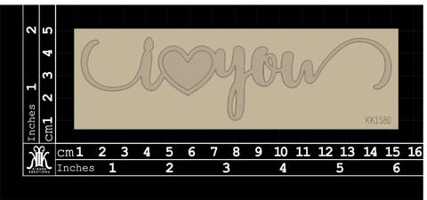 Kinder Kreations Chipboard I Heart You S2