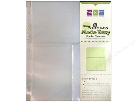 WRMK Albums Made Easy Page Protectors 8.5x11 (4.75x8.8 & 2x 4x6)