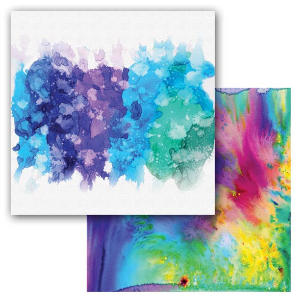 Ken Oliver Color Burst Splash 12x12 Paper - Splatter