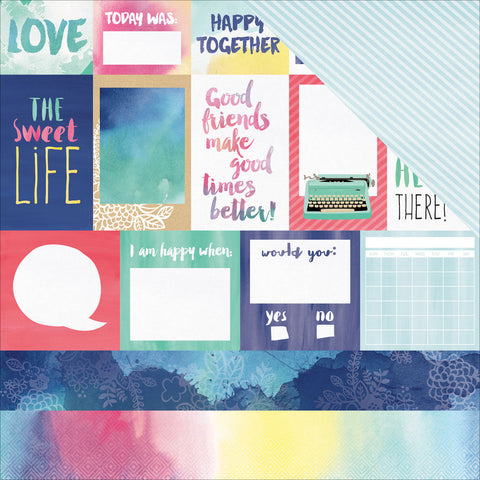 AC Amy Tangerine 12x12 Paper Better Together Each & Every