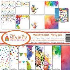 Ella & Viv Paper Company Collection Kit - Watercolor Party Kit