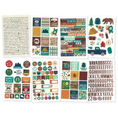 Simple Stories Stickers Cabin Fever