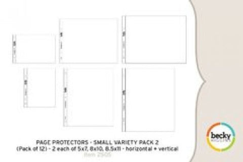 Project Life 12x12 Small Variety Pack 2 Page Protectors 12 Pack