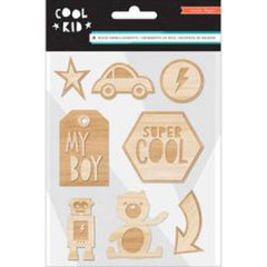 Crate Paper Cool Kid Wood Embellishments