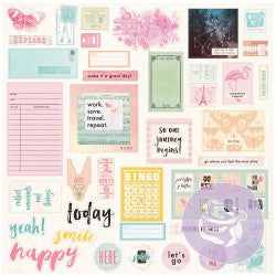 Prima Travellers Journal Sweet Notes Ephemera & Stickers