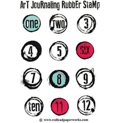 Red Lead Paperworks Art Journaling Rubber Stamp Set