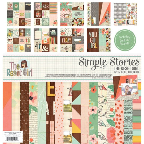 Simple Stories 12x12 Collection Kit The Reset Girl