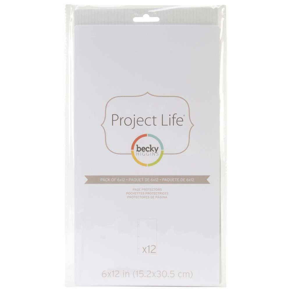 Project Life 6x12 Design H Page Protectors 12 Pack