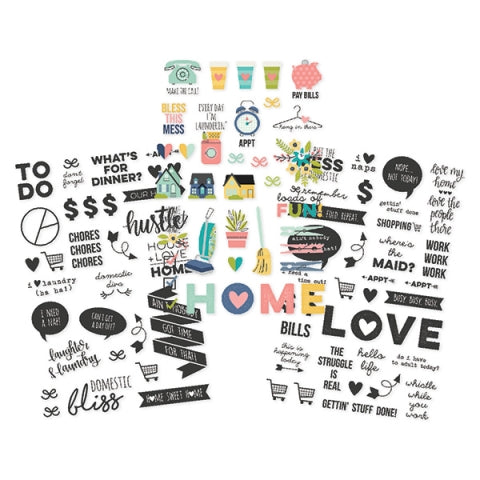 Simple Stories Domestic Bliss Clear Stickers