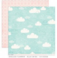 CV-ES002 Endless Summer 12x12 Paper Blue Skies
