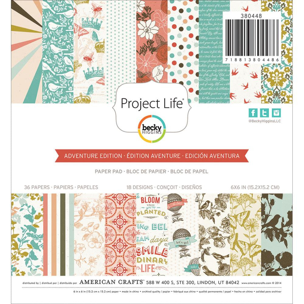 Project Life 6x6 Paper Pad Adventure Edition