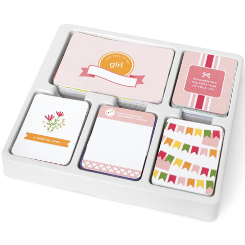 Project Life Core kit Baby Girl 616 cards