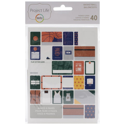 Project Life Themed Cards 40 Pack Basketball