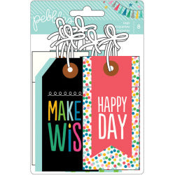 Pebbles Birthday Tags