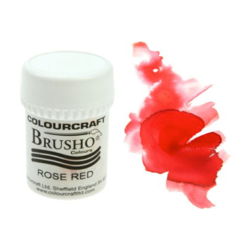 Brusho Colours - Water Colour Powder - Rose Red