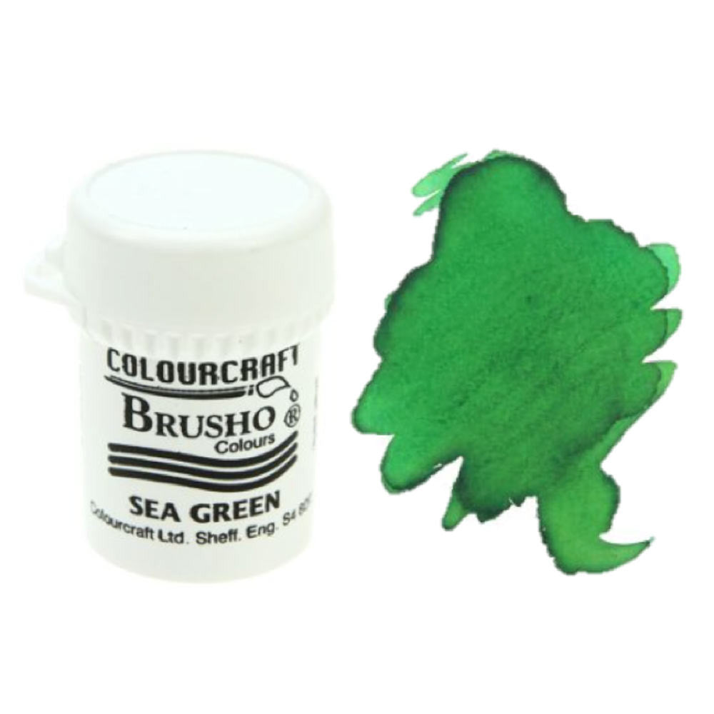Brusho Colours - Water Colour Powder - Sea Green