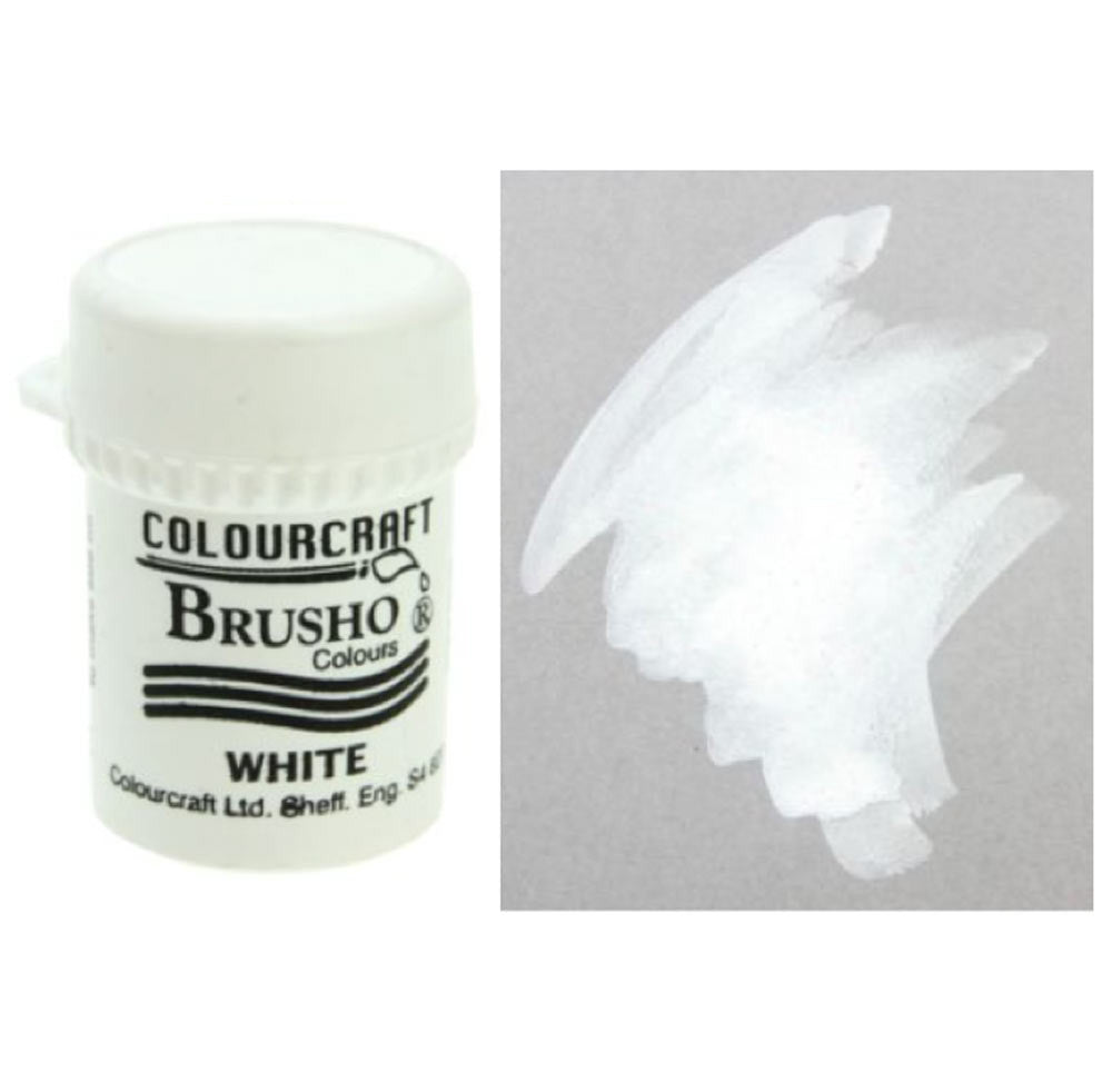 Brusho Colours - Water Colour Powder - White