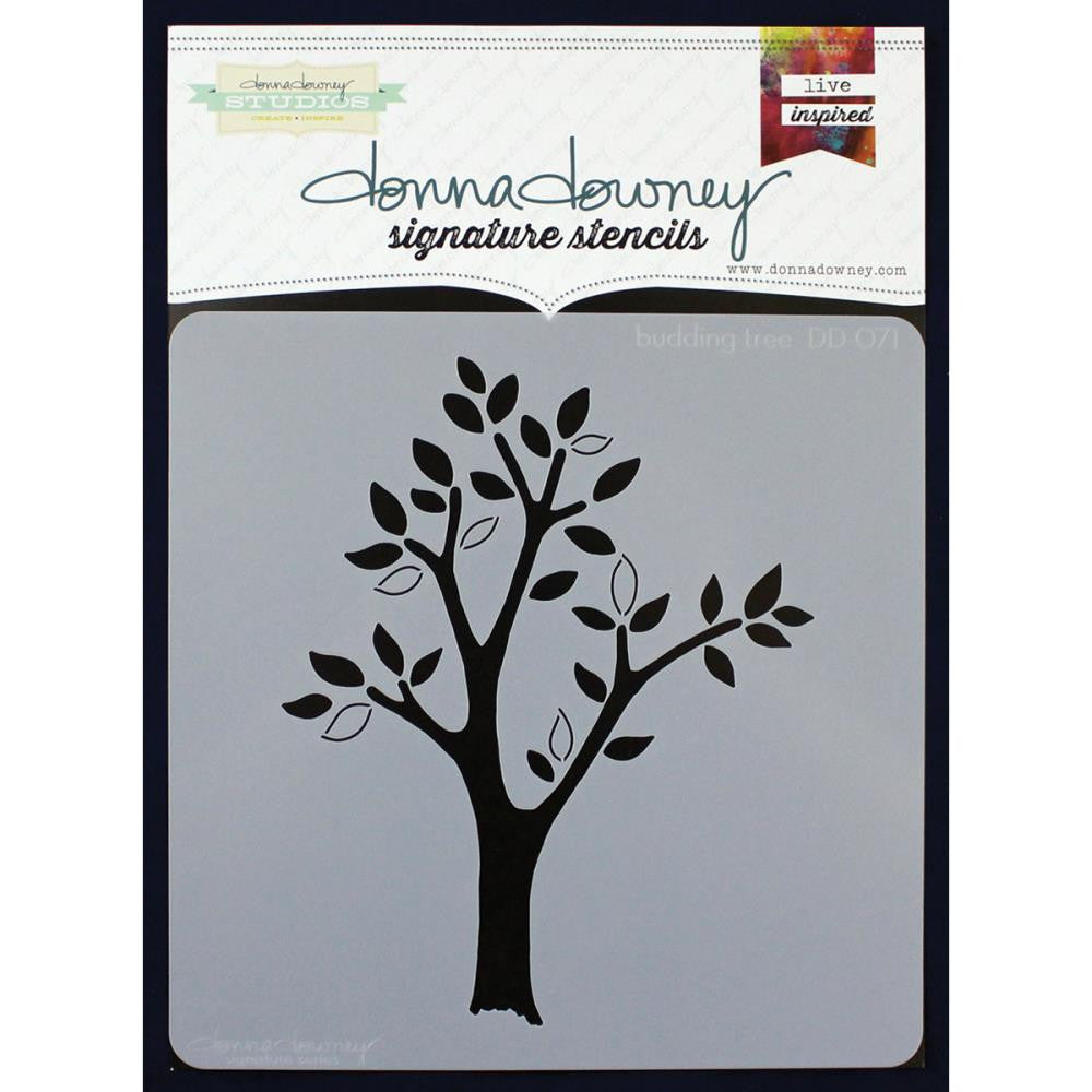 Donna Downey Signature 8x8 Stencil Budding Tree