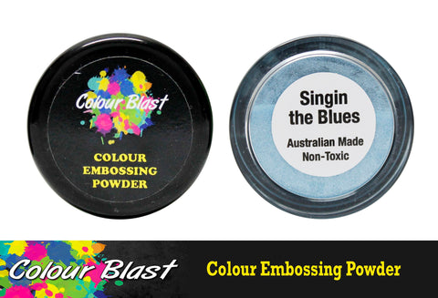Colour Blast Embossing Powder Singin The Blues