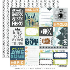 CV-BR 006 Boys Rule 12x12 Paper Boy Stuff