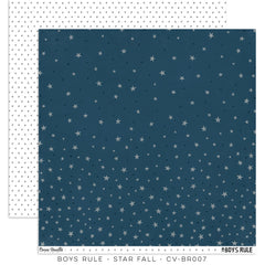 CV-BR 007 Boys Rule 12x12 Paper Star Fall