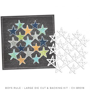 CV-BR 018 Boys Rule 12x12 Die Cut Paper Kit