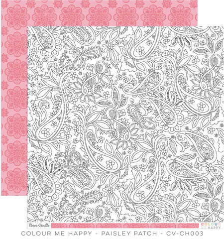 CV-CH003 Colour Me Happy 12x12 Paper Paisley Patch