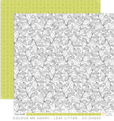 CV-CH005 Colour Me Happy 12x12 Paper Leaf Litter