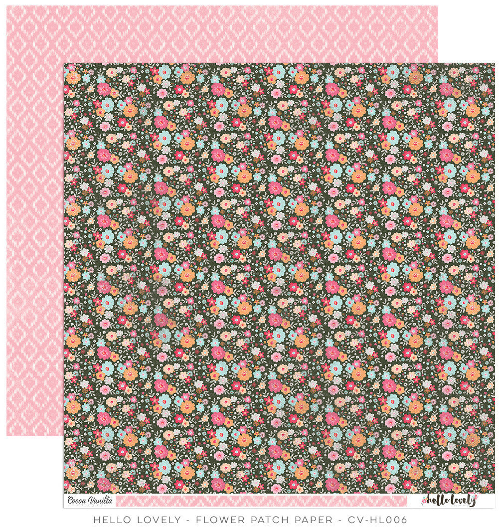 CV-HL006 Hello Lovely 12x12 Paper Flower Patch