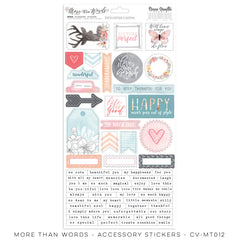 CV-MT012 More Than Words Accessory Stickers