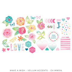CV-MW016 Make A Wish Vellum Shapes