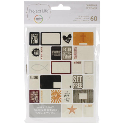 Project Life Themed Cards 60 Pack Christian