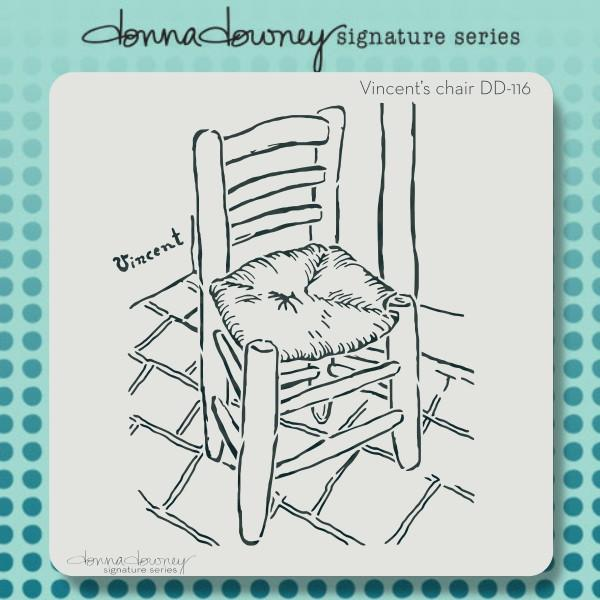 Donna Downey 8x8 Stencil Vincents chair