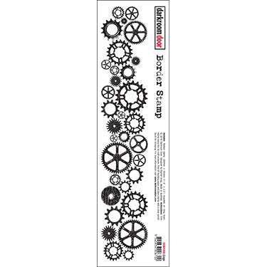 DRD Collage Border Stamp cogs