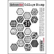 DRD Collage Stamp Arty Hexagons