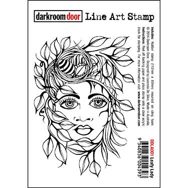 DRD Line Art Stamp Leafy Lady