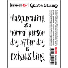 DRD Quote Stamp Masquerade