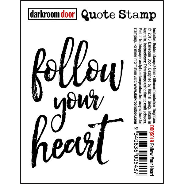 DRD Quote Stamp Follow Your heart