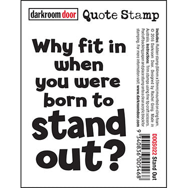 DRD Quote Stamp Stand Out