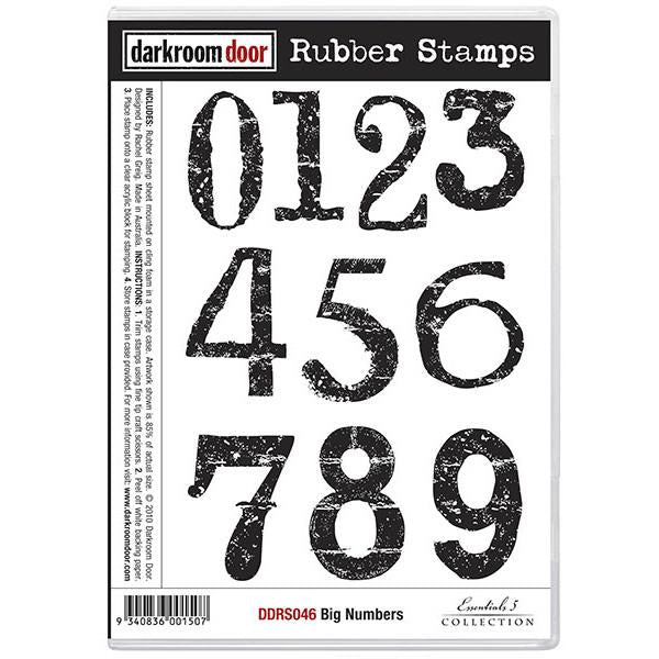 DRD Rubber Stamps Big Numbers