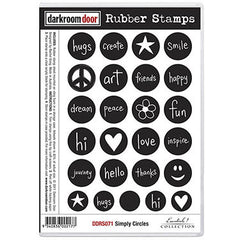 DRD Rubber Stamps Simply Circles