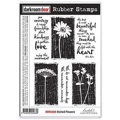 DRD Rubber Stamp Etched flowers
