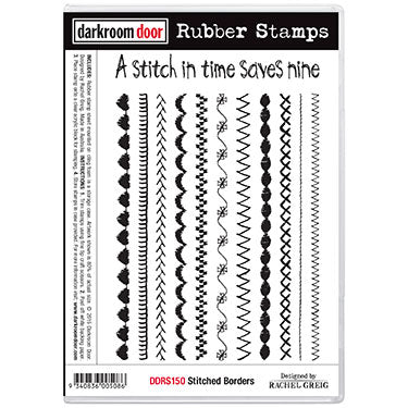 DRD Rubber Stamps Stitched Borders