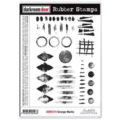 DRD Rubber Stamps Grunge Marks