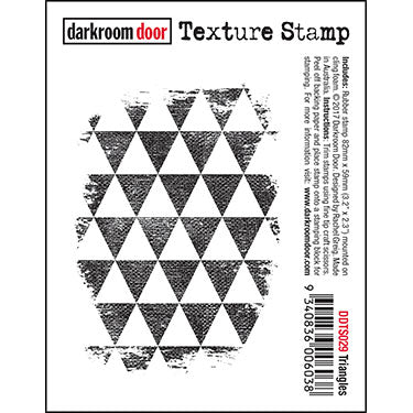 DRD Texture Stamp Postage Triangles