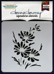 Donna Downey Signature Stencils 8x8 Painted Flowers