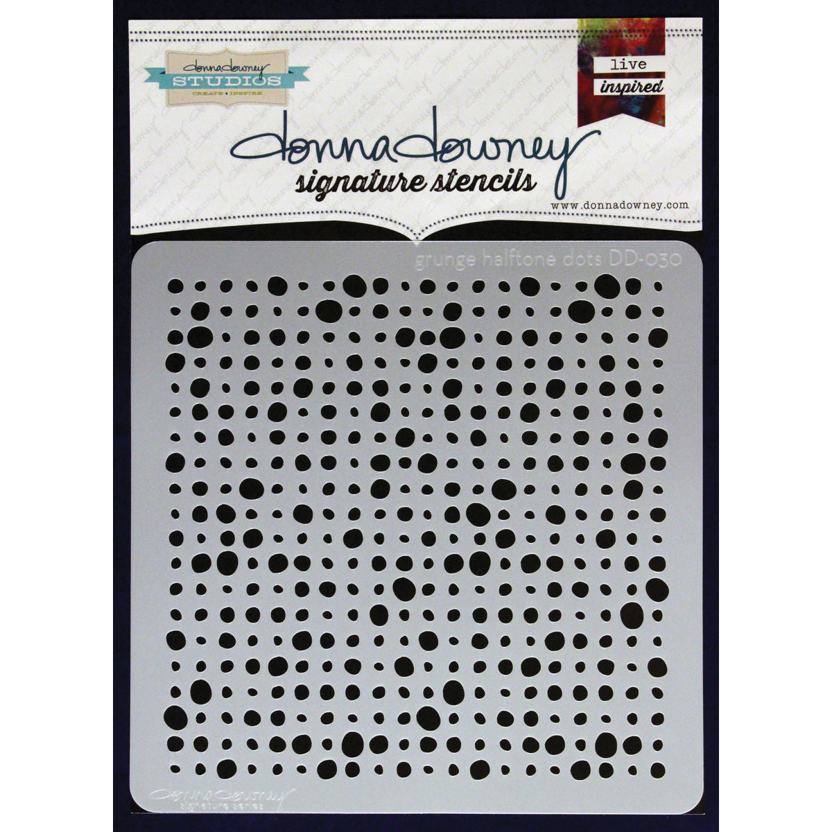 Donna Downey 8x8 Template Grunge Halftone Dots